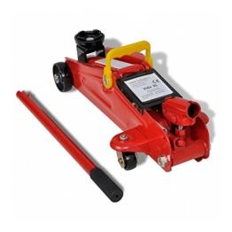 Wagenheber Rangierwagenheber Hydraulik Hebebühne Werkstattwagen mechanisch 2Tonnen - 1