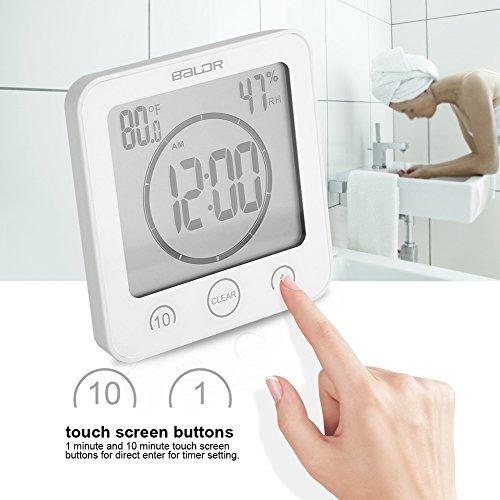 badezimmeruhr wasserdichte dusche uhr timer saugnapf digital lcd display thermometer hygrometer. Black Bedroom Furniture Sets. Home Design Ideas
