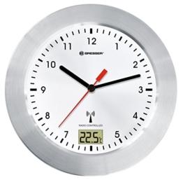 Bresser MyTime Bath Bad Wanduhr mit Temperaturanzeige und Funkuhr 8020114, weiß - 1