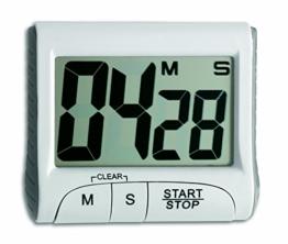 CHARLLEAN Elektronischer Timer mit Stoppuhr, Digitale Küchenuhr elektronischer Küchentimer mit Berührungsempfindlicher Bildschirm LCD Anzeigen, Kurzzeitmesser, Extra Großes Display, Lautem Alarm - 1