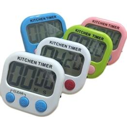 Da.Wa Digitale Küchenuhr/Timer, Küchentimer Digital Timer mit großem Bildschirm und Magnet für die Küche zum Kochen, Backen, Spiele, Sport und Büro, Grün (Ohne Batterien) - 1