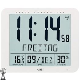 Digital Funkwanduhr weiss AMS 5886 - 1