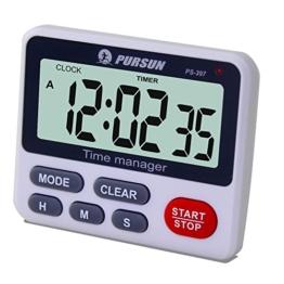 Digitaler Küchentimer Kochen Timer Küchenuhr - XREXS Count Down Up Timer mit Wecker Stoppuhr mit Großen LCD Display und Befestigungsmagnet (Batterie Enthalten) - 1