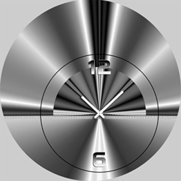DIXTIME 5090 Designer Wanduhr, Wanduhren, Moderne Wohnraumuhr 50cm Durchmesser - 1