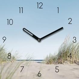 Eurographics Wanduhr aus Glas mit Tischaufsteller, Beach Experience, Sand Strand, 20x20 cm - 1
