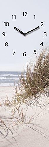 Eurographics Wanduhr aus Glas, Sea of Dunes, Strandmotiv mit Sanddüne, Hellblau, 20x60 cm - 1