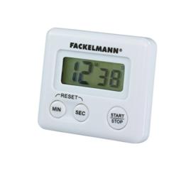 Fackelmann Kurzzeitwecker, digitale Küchenuhr, magnetische Eieruhr (Farbe: Weiß), Menge: 1 Stück - 1