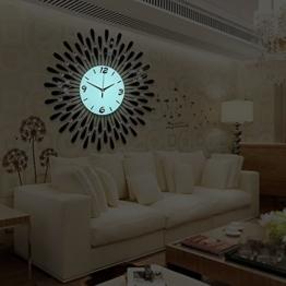 Flashing- Europäische Persönlichkeit Stumm Große Wanduhr Moderne Wohnzimmer Kreative Mode Einfache Wanduhr ( Farbe : Luminous , größe : 60 ) - 1