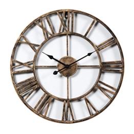 GANADA 19,7Zoll Wanduhr Vintage Wanduhr Groß Wanduhr Lautlos Wanduhr aus Eisen für Wohnzimmer, Küche, Büro und Schlafzimmer - 1