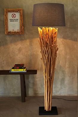 Hochwertige Treibholz Standlampe Elementaire Naturholz Natur rustikal Handarbeit Höhe 175 cm XL NEU | Unikat Holz-Stehlampe| Der Eye-Catcher für Wohnzimmer Schlafzimmer Wintergarten - 1