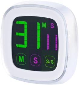infactory Timer: Magnetischer Küchentimer mit farbigem Touchscreen (Eieruhren) - 1
