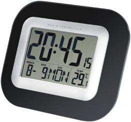 infactory Wand- & Tisch-Funkuhr mit Weckfunktion & Temperaturanzeige - 1