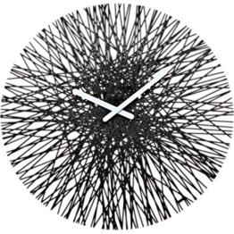 Koziol Wanduhr Silk, Kunststoff, solid schwarz, 3,5 x 44,8 x 44,8 cm - 1