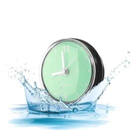 Kreative Badezimmer Uhr Mini Wasserdichte Uhr mit Saugnapf für Badezimmer Küche SPA Sauna C - 1