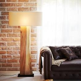 Kreative Baumscheibe Treibholz Standlampe Lampe XL Handarbeit | Stehlampe Schwemmholz Holz Handarbeit | Moderne Innenbeleuchtung für exklusives Wohnen mit Flair - 1
