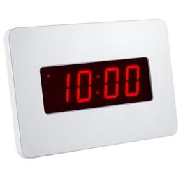 Kwanwa Digital LED Wecker Wanduhr für Schlafzimmer Nur mit Batterie betrieben (Weiße) - 1