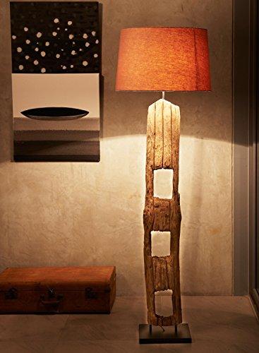 light winter xl design stehlampe stehleuchte mit schirm aus holzstamm baumstamm treibholz. Black Bedroom Furniture Sets. Home Design Ideas