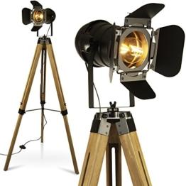 MOJO Tripod Stehleuchte Tischleuchte Höhenverstellbar Stehlampe Tischlampe Retro Industrial Design ml88 (Ohne Leuchtmittel) - 1