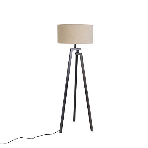 qazqa design designer stehleuchte stehlampe standleuchte lampe leuchte dreifu schwarz mit. Black Bedroom Furniture Sets. Home Design Ideas