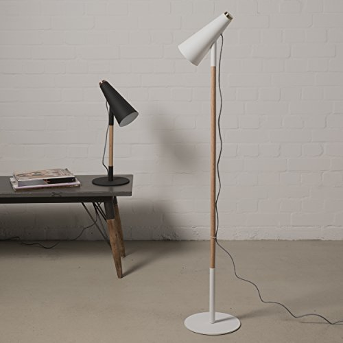 stehlampe 139cm wei mit touch sensor holz design modern lampe leuchte 3 5m kabel 4 redidoplanet. Black Bedroom Furniture Sets. Home Design Ideas
