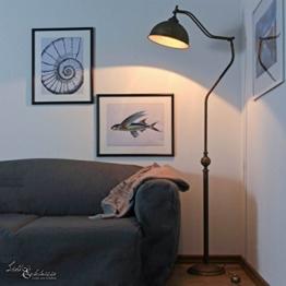 Stehlampe Antik Messing Bronze Handarbeit Premium Maritim E27 Vintage Standleuchte Schlafzimmer Flur Wohnzimmer - 1