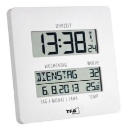 """TFA Dostmann 60.4509.02"""" Time Line Funkuhr mit Temperatur - 1"""