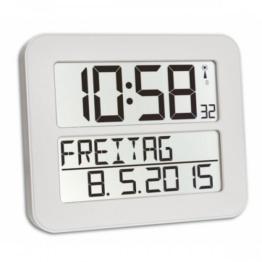TFA Dostmann 60.4512 TimeLine Max Funkuhr digitale Wanduhr (Weiß mit Batterien) - 1