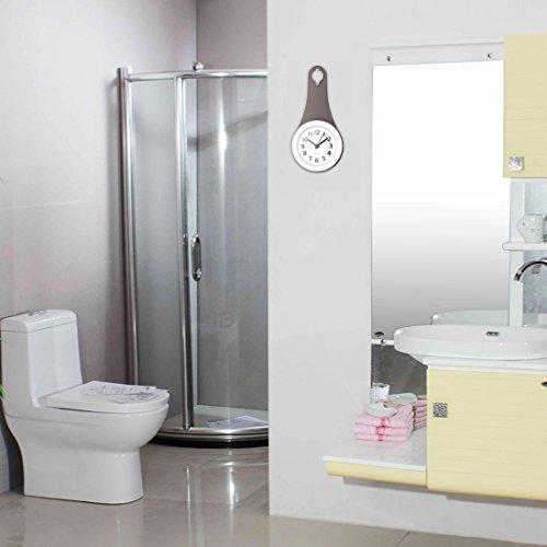 Txxci badezimmer wasserdicht wanduhr uhr saugn pfe nicht for Uhr badezimmer