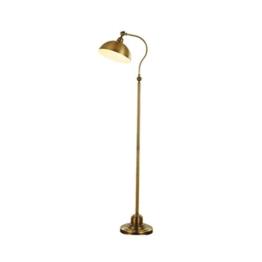 vbimlxft- Moderne Antique Brass Einstellbare Eisen Lesen Craft Stehleuchte Interiors Zeitgenössische Metall Lampe, Antik Messing Stehlampe - 1