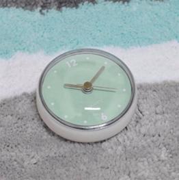 Wall Clock WERLM Einfache Wohnzimmer Wanduhr Retro Schlafzimmer Wecker SOG  Uhr Wasserdicht Bad Küche Wanduhr Badezimmer SOG Wandmontage Glas Uhren 7  Cm, ...