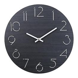 Wanduhr Vintage, OviTop Wanduhr 30cm Dekorative Wanduhr Lautlos Ruhige Wanduhr ohne Tickgeräusche für Küche Büro Wohn- und Schlafzimmer - 1